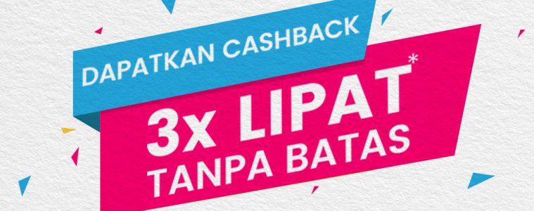 Cashback 3x Lipat Tanpa Batas