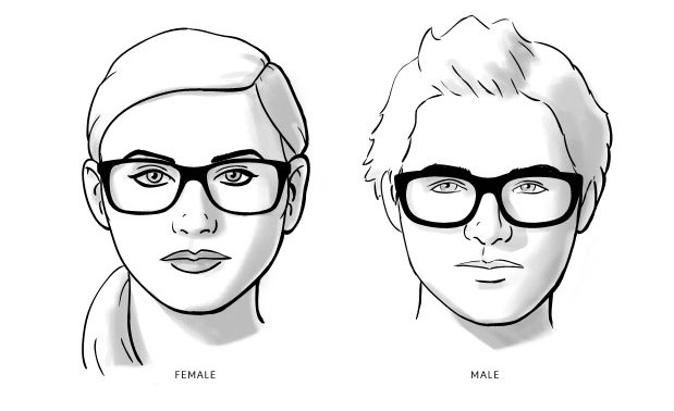 Kacamata Gaul - Wajah Bulat