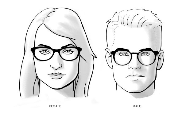 Kacamata Gaul - Wajah Persegi