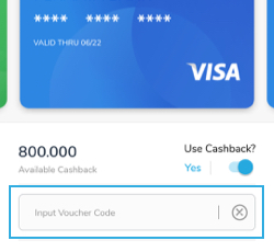 pilih voucher code cashbac