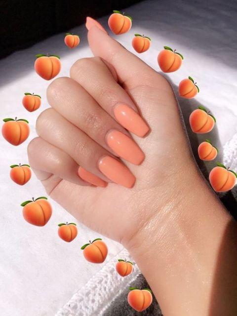 warna kutek yang bagus - orange
