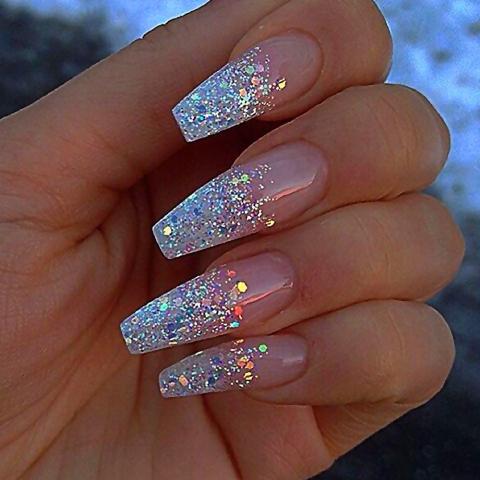 warna kutek yang bagus - glitter