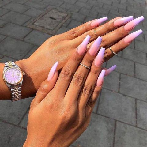 warna kutek yang bagus - ungu muda
