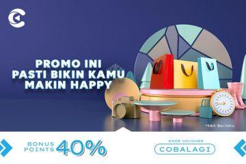 promo cashbac cobalagi 40%