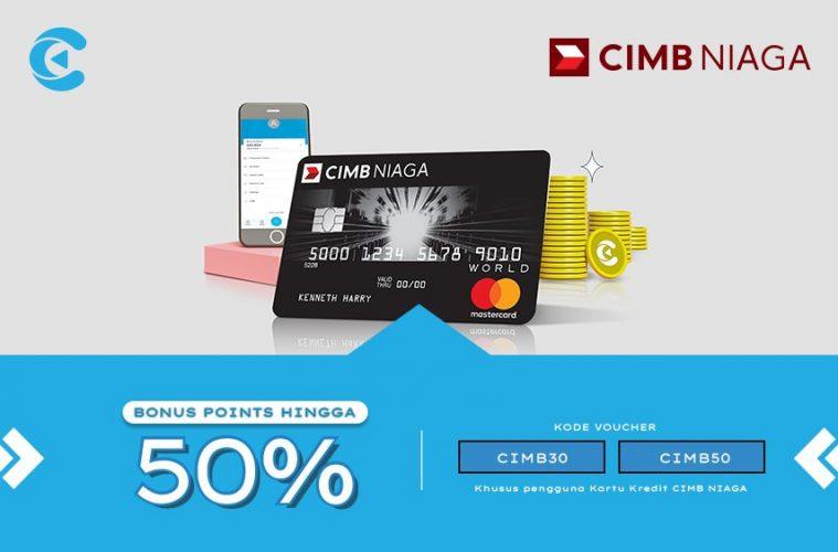 Bonus Rewards Hingga 50 Untuk Pengguna Kartu Kredit Cimb Niaga Cashbac Com