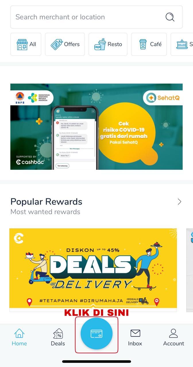 Open Cashbac App