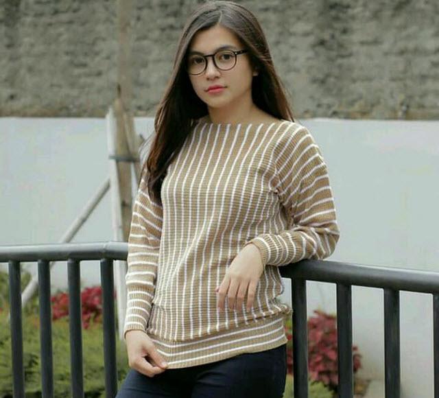 baju atasan knit