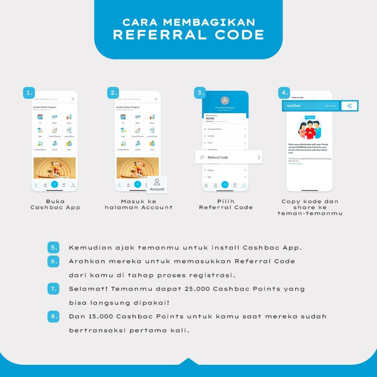 cara share referal code