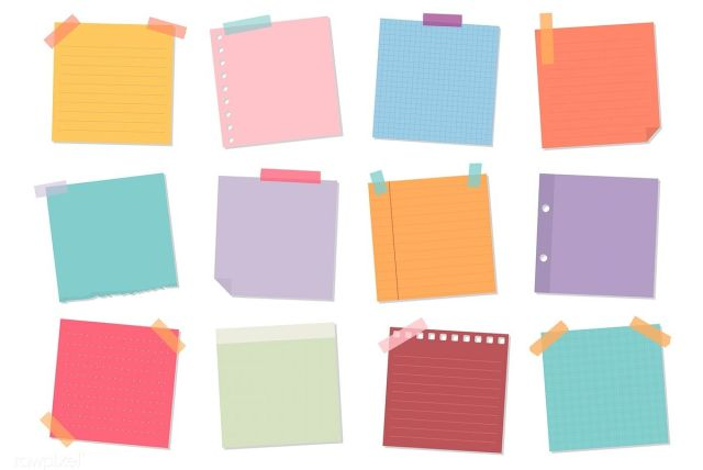 peralatan sekolah - sticky notes