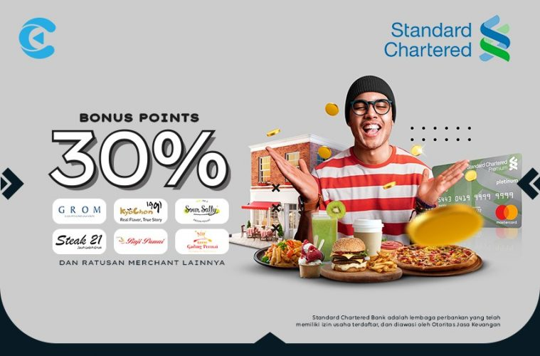 cashbac standard chartered 30%