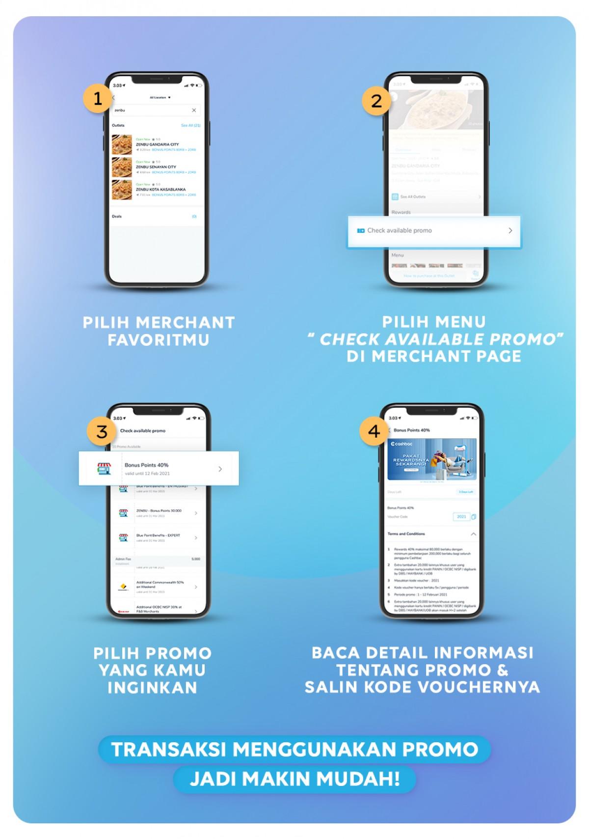 langkah cara cari promo cashbac