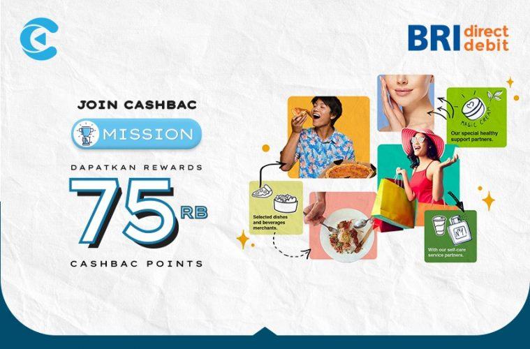 cashbac bri direct debit mission