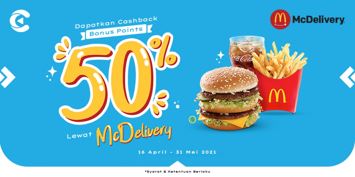 cashback 50% mcdelivery