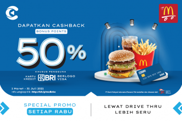 Promo MCD 50% Rabu