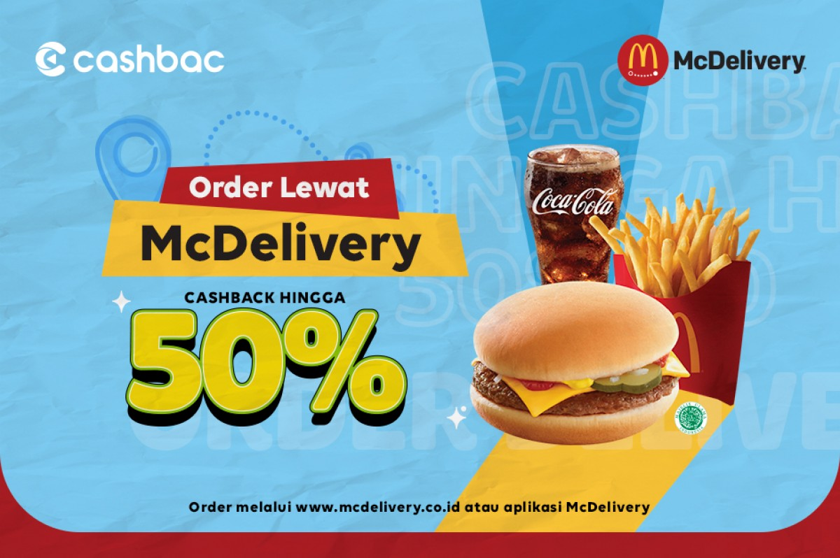 cashback 50% mcdelivery