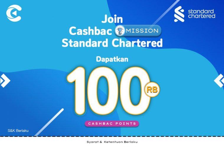 cashbac standard chartered mission