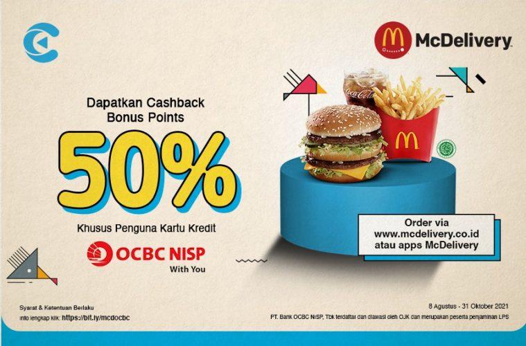 cashbac ocbc nisp mcdelivery 50%
