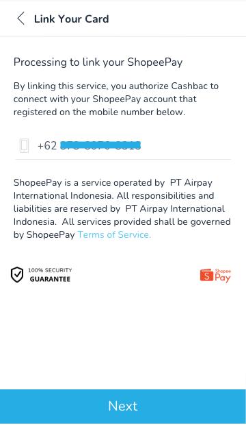 shopeepay link cashbac