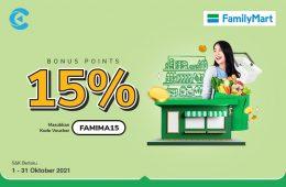 cashbac familymart 15%
