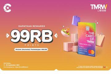 tmrw cashbac 99 ribu